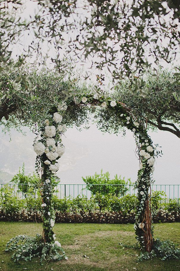 wedding arch - we suggest just greenery and fabric