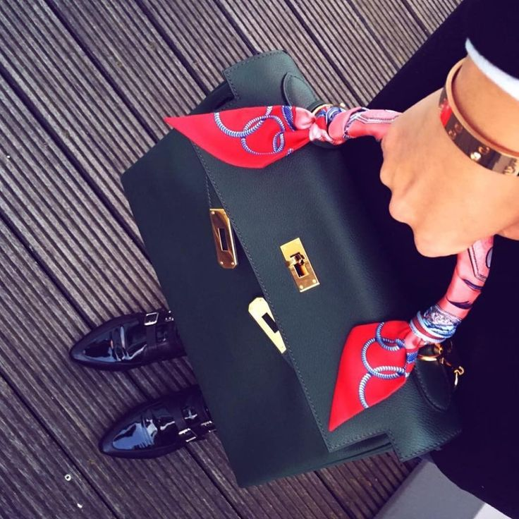 Hermes Kelly bag and Twilly