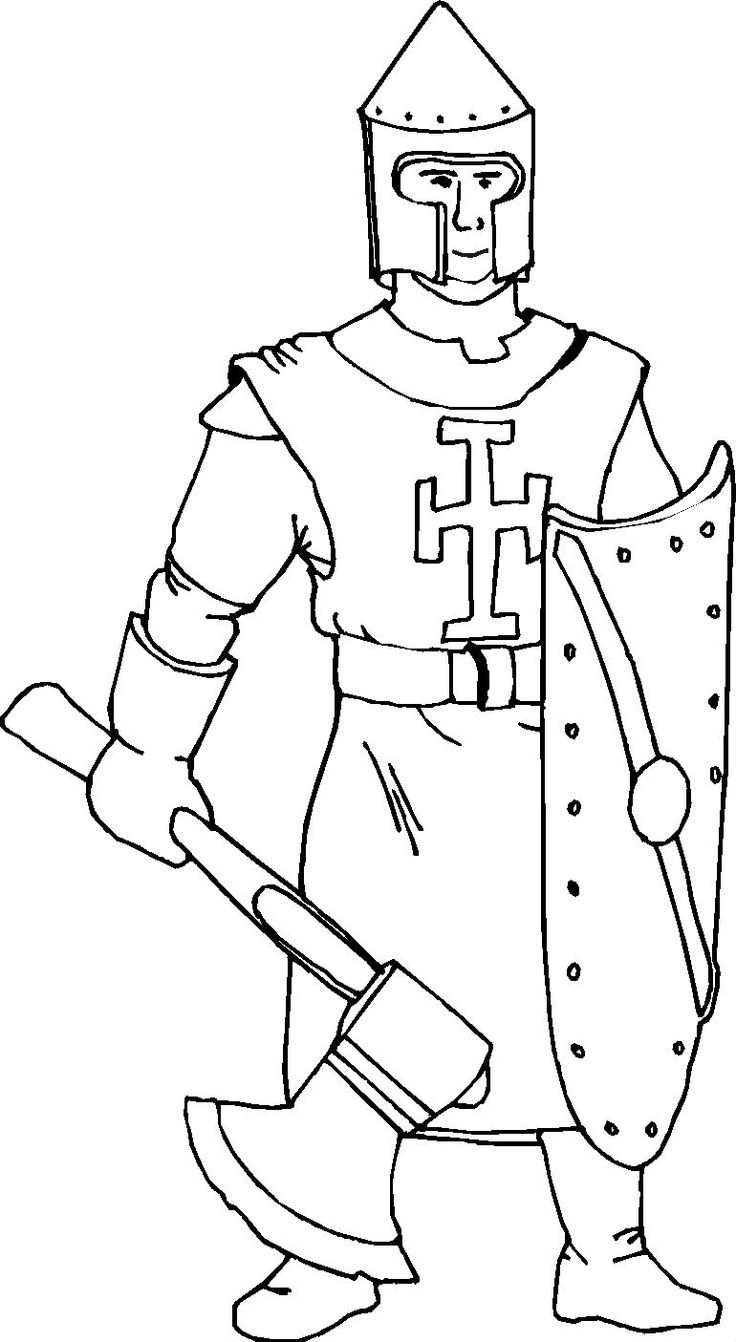 knight coloring pages for kids - photo#24