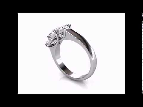 Princess Cut Diamond Trilogy Ring CAD Design. Custom made to suit.  #perfectionmadepossible