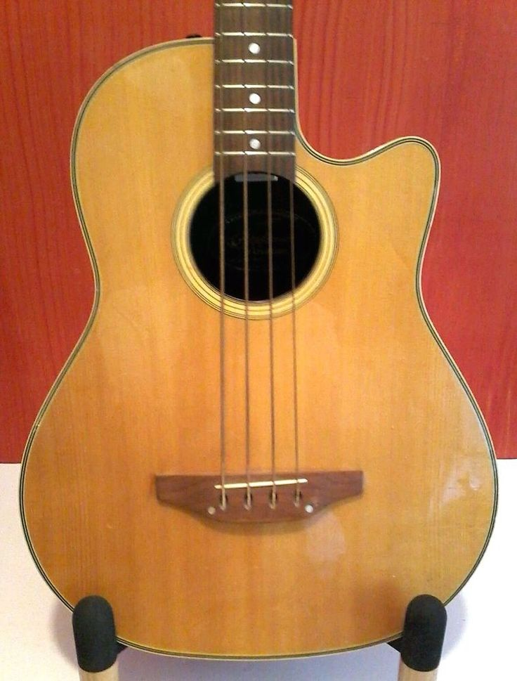 Ovation Applause Ae 40 4 String Acoustic Electric Bass