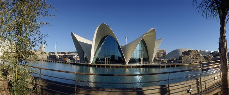 #Panorámica del exterior del #Restaurante Submarino en el entorno del #Oceanografic #Valencia  www.restaurantesubmarino.es