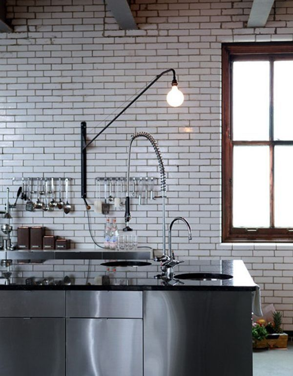 white subway tiles with gray grout