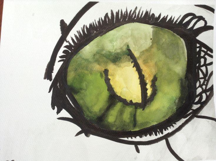 Green reptilian eye