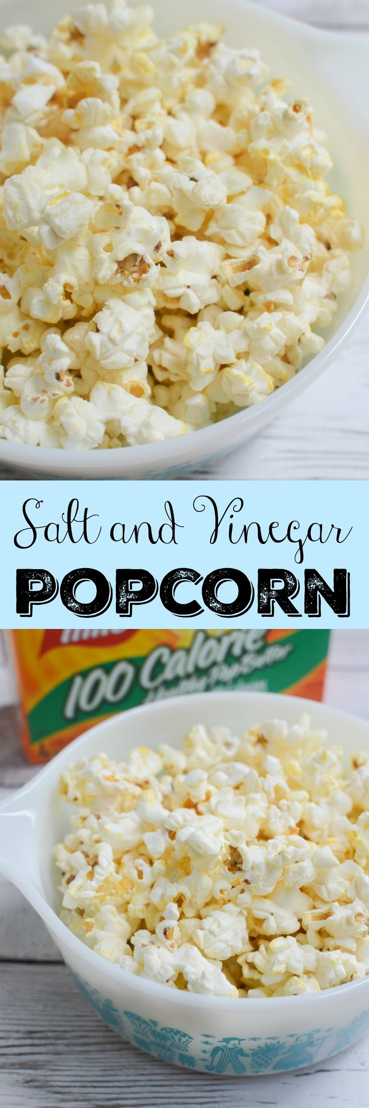 Salt and Vinegar Popcorn - turn a bag of microwaved popcorn into salt and vinegar popcorn in minutes! #weightwatchers #ww #ad: