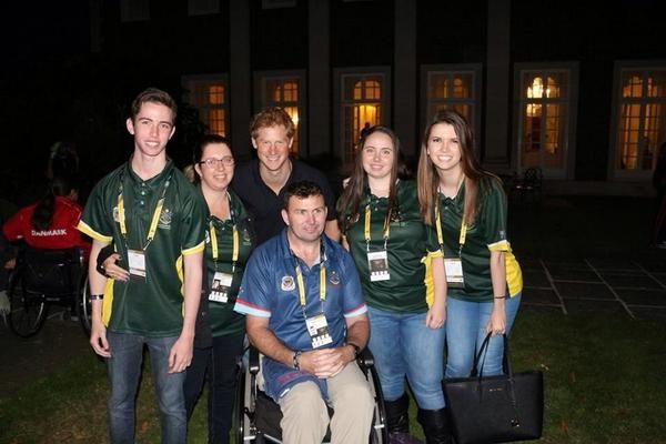 Garry Robinson and his family meet Prince Harry