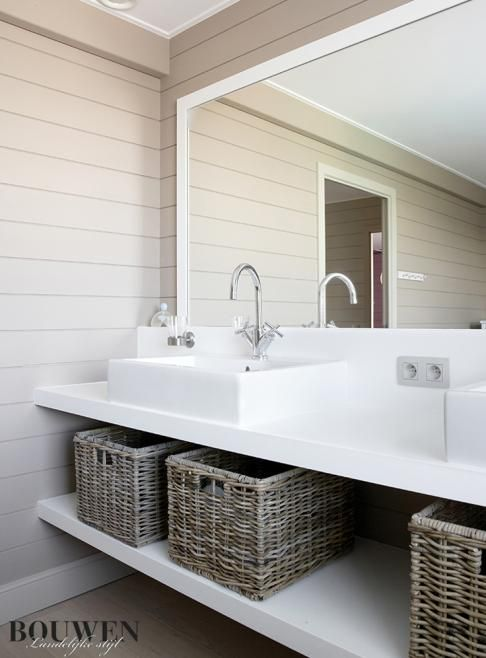 ☆love the horizontal boards + baskets