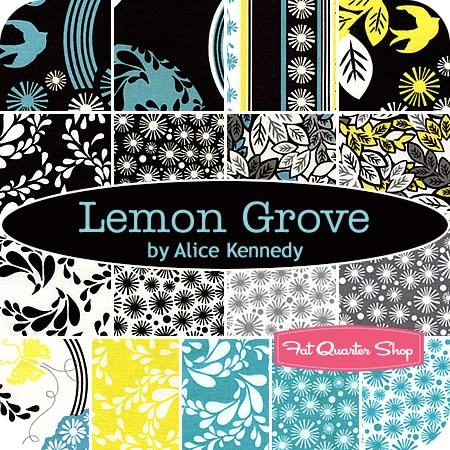 quilts...: Lemon Grove, Yellow Teal, Treasure Fabrics, Fabrics Quilts, Quilts Black, Fat Quarter, Alice Kennedy, Teal Flowers, Black Yellow