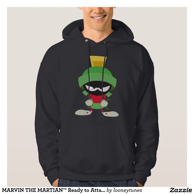 MARVIN THE MARTIAN™ Ready to Attack Hooded Pullover. Regalos Padres, fathers gifts, #DiaDelPadre #FathersDay