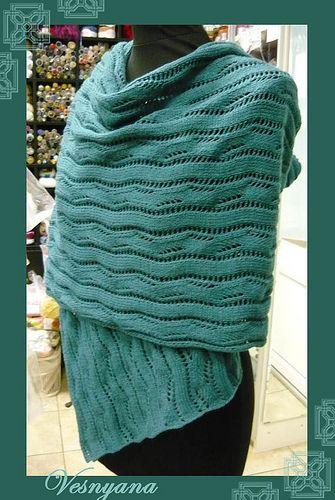 "Knitted Joy: Палантин ""Лесная тропинка"""