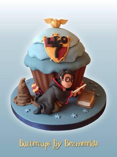 Giant Cupcake Harry Potter Cake by Buttercups by Bezmerelda