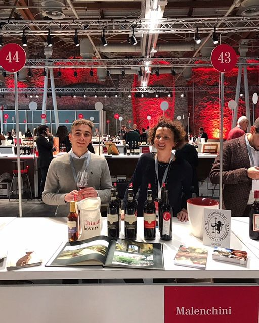 Our estate wines by Malenchini being showcased at Chianti Lovers 2017 wine event in Florence, Italy