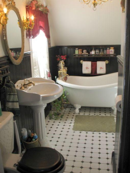 Pin by kimberly wilson on house ideas pinterest for Small victorian bathroom ideas