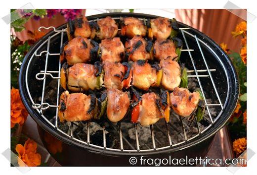 Spiedini di Pollo | Chicken Skewer Le ricette di Ennio Zaccariello Fragola Elettrica Peperone Rosmarino BBQ Barbecue Ricetta Recipe