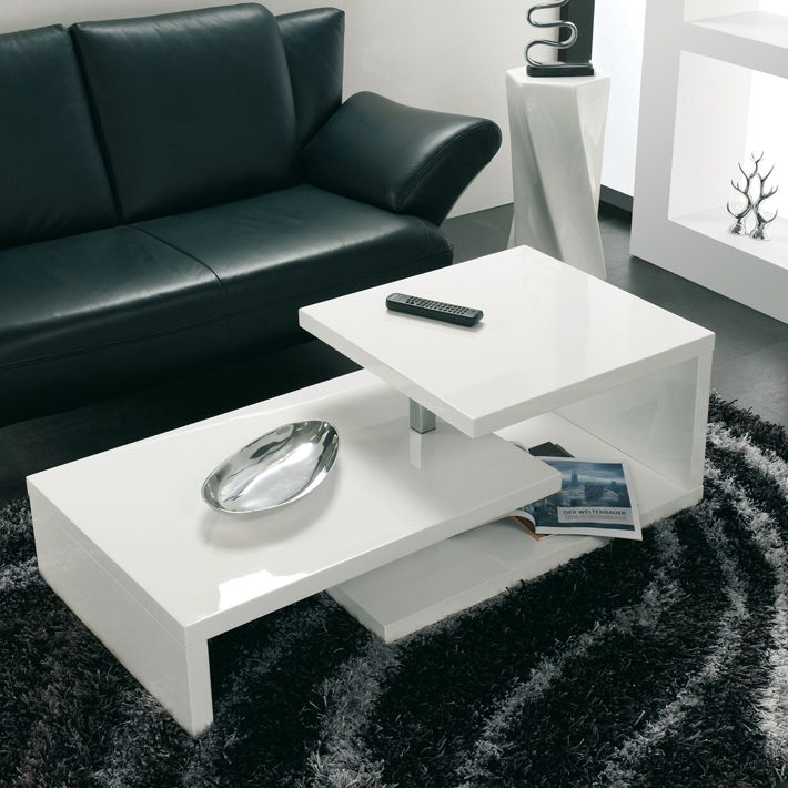 table basse blanc laque habitat. Black Bedroom Furniture Sets. Home Design Ideas