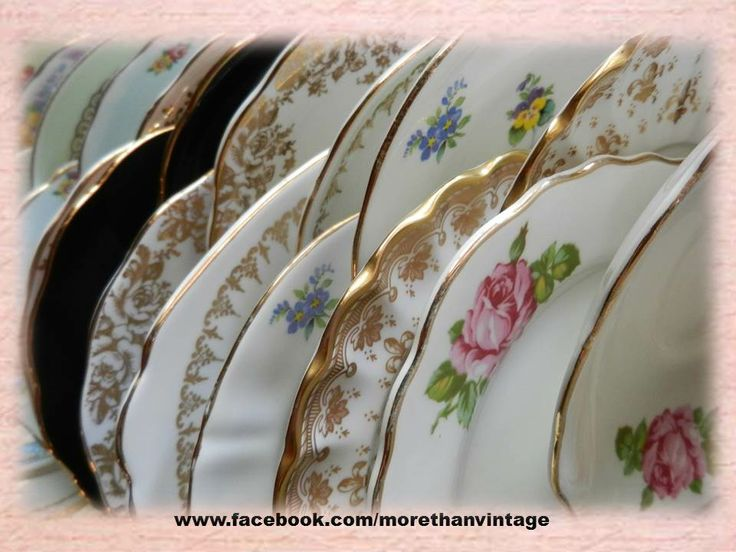 Vintage China Plates ! from More Than Vintage