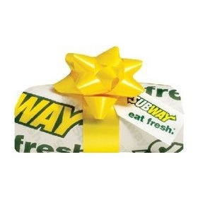 SUBWAY Gift Card Collection, (gift card, gift cards, gift certificate)