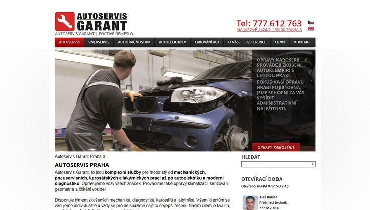 Tvorba nového webu na CMS #wordpress pro www.autoservis-garant.cz. Obsahová strategie, vytvoření webu, SEO, emailing.