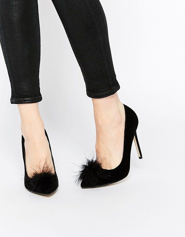 Pin for Later: 50 Fashionable Gifts For Christmas Under £50 Missguided Heeled Court Shoe With Pom Pom Detail (£30)