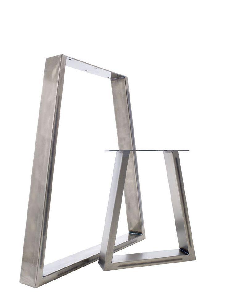 2 x Tisch & Bank Stahl Tischbeine: Auffallendes Trapezium Design in Möbel & Wohnen, Möbel, Zubehör   eBay