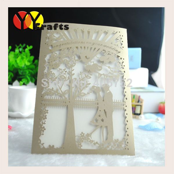 59,00 50PC CON BUSTA Cheap wedding invitation card, Buy Quality wedding invitation cards design directly from China invitation card Suppliers: 	New bride and groom cheap bengali wedding invitation cards design	Note:Please email me:maggiezhao(a)yoyocraft.com.cn,I