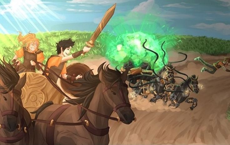 30 day Percy Jackson Challenge: Day #04: Favourite Camp Event - Just to go with something different, I'm going to say the chariot race in Sea of Monsters. Percy and Annabeth on the same chariot racing team with Tyson manning the defence with sweet gadgets. Perfection.