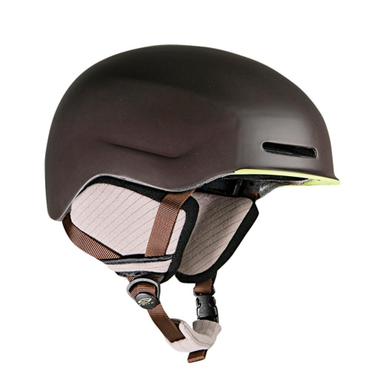 Smith's Maze Chocolate Evolve Ski Helmet - Made with recycled silver and polyester, and its packaging is green too.