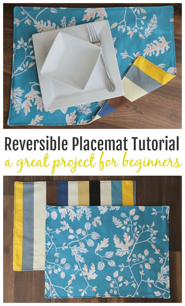 In this placemat tutorial, you'll learn how to make a set of reversible placemats …   – sewing