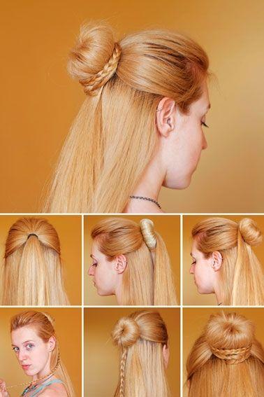 håropsætning med valk