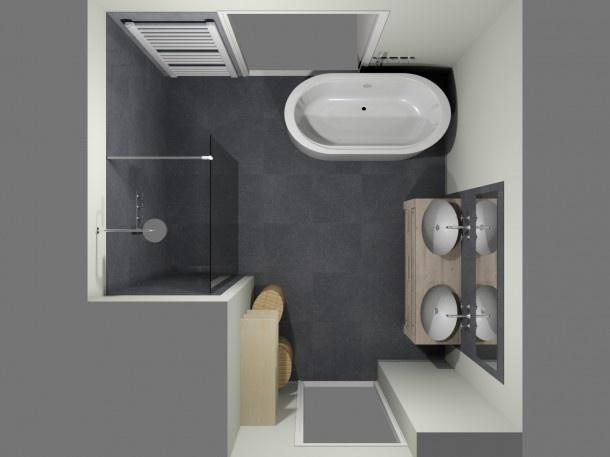 De eerste kamer ronde vormen in een moderne badkamer door dreus en druifje badkamers - Scheiden een kamer door een gordijn ...