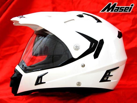 MASEI & GDR PURPLE ICE CHROME 311 ATV MOTOCROSS MOTORCYCLE ICON HELMET