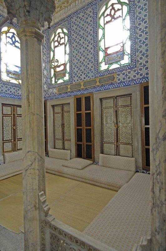 Interior Harem, Topkapi Palace, Istanbul, Turkey.