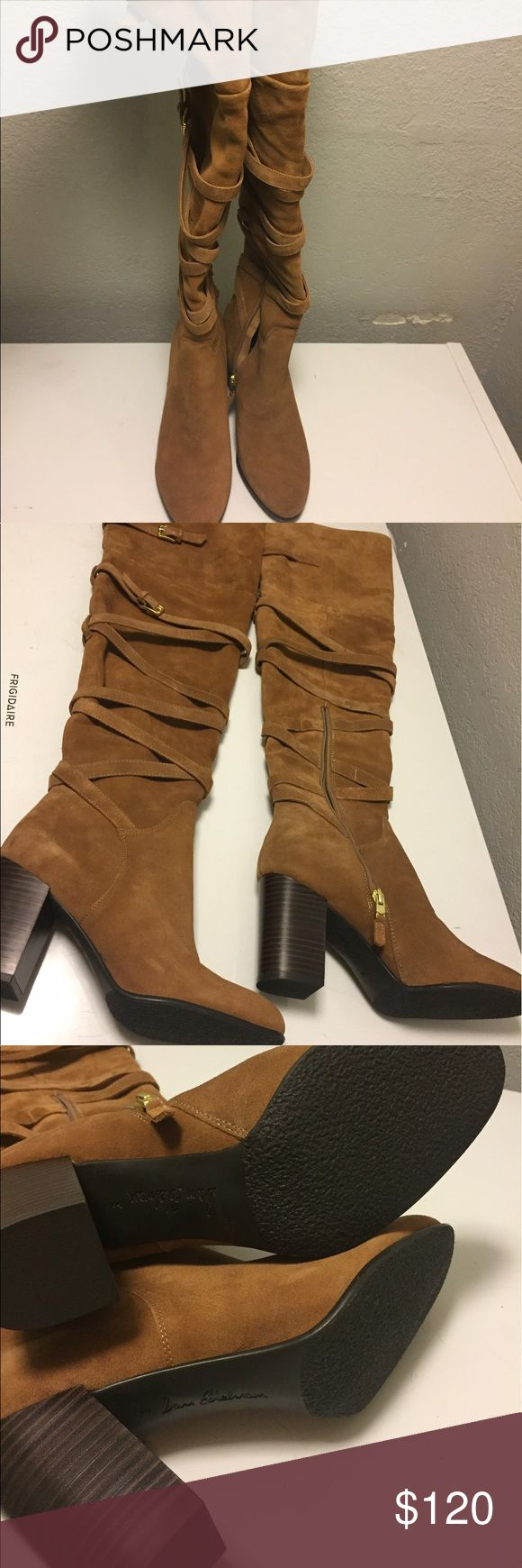 Sam Elderman thigh high boots brown New Sam Edelman Shoes Over the Knee Boots