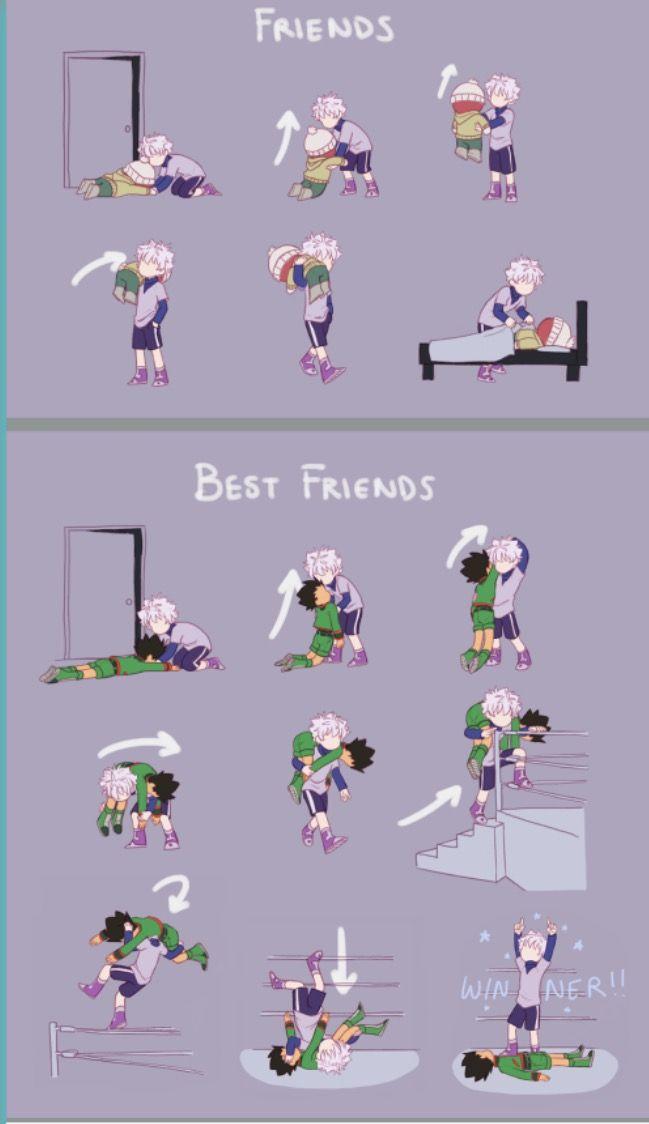 Hunter x Hunter | HXH | Killua | Zoldyck | Gon | Freecss | Anime| Melhores amigos | Best friends