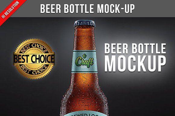 Beer Bottle Mock Up Beer Bottle Bottle Mockup Beer