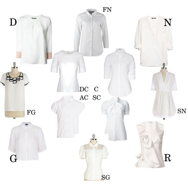 Essential white blouse for Kibbe types by moara on Polyvore featuring Violeta by Mango, Nineminutes, Steffen Schraut, Topshop, Viktor & Rolf, ONLY, Dsquared2, rag & bone and plus size clothing