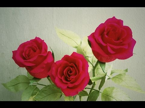 How To Make Cosmos Paper Flower From Crepe Paper #2  - Craft Tutorial - YouTube