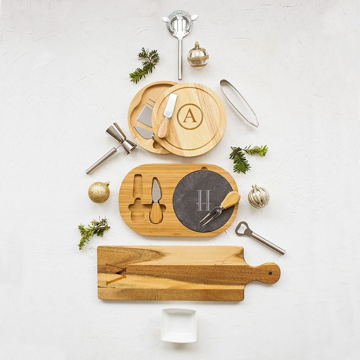 Personalized Rubber 5-piece Gourmet Cheese Board Set