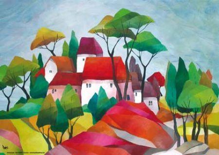 """Kunstdruck """"Sommer"""" Gisela Funke"""