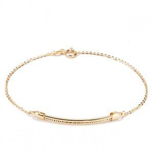 Złota bransoletka - Biżuteria srebrna dla każdego tania w sklepie internetowym Silvea