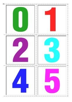 0-10 Numbers Flash Cards
