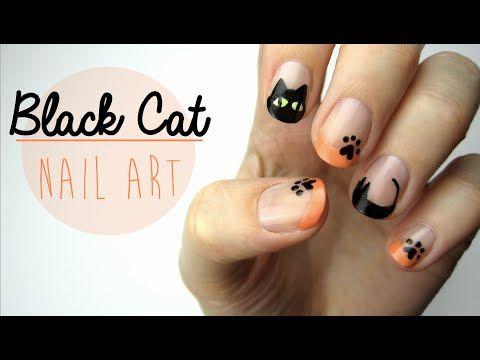 977 best nails images on pinterest nail art tutorials nail black cat nail art by cutepolish prinsesfo Image collections