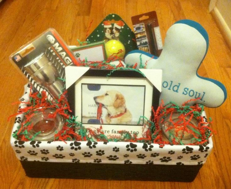 gift basket for a dog lover
