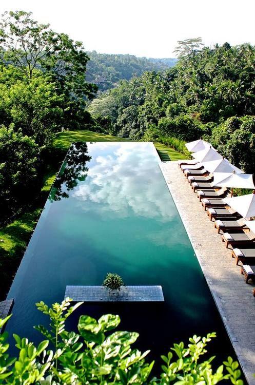 Infinity pool at Alila Ubud hotel, Bali