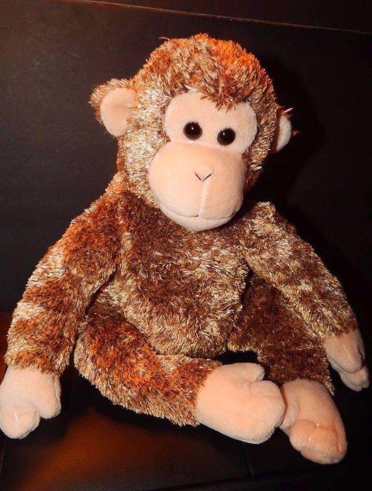 "2003 Ty Beanie Buddies BONSAI Chimpanzee Monkey 16"" Plush Toy  Multi Color/Tone  #Ty"