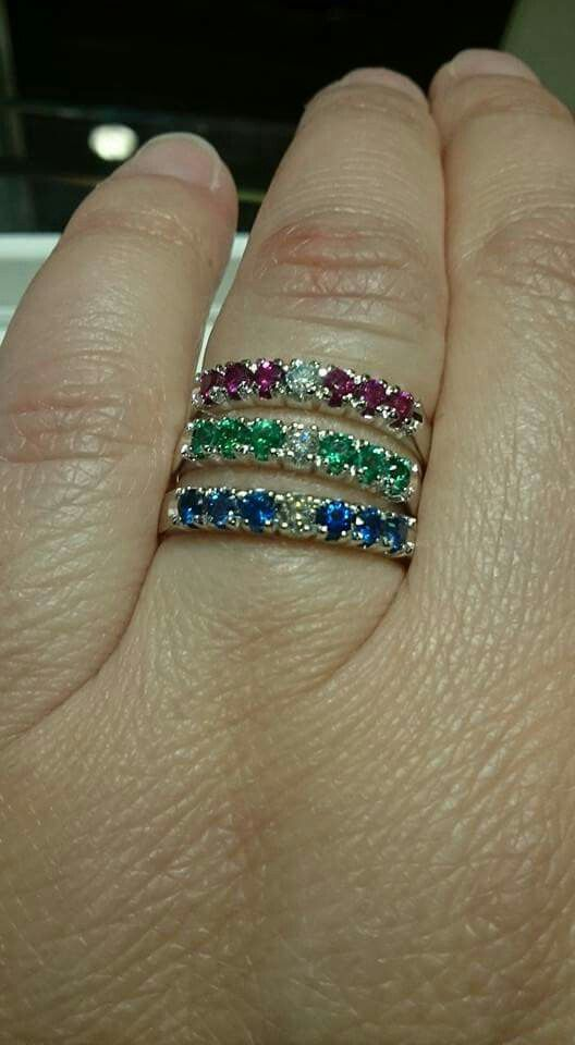 Verette in oro 18 kt con zaffiri, rubini,smeraldi e diamanti Facebook: Gioielleria il Diamante