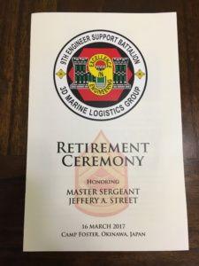 Congratulations on your retirement Master Sergeant Jeffery Street