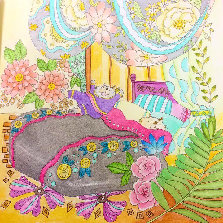 #きまぐれ猫ちゃんズの旅日記 #吉沢深雪 #コスミック出版 #コロリアージュ #coloriage #おとなの塗り絵 #おとなのぬりえ #おとなのぬり絵 #大人の塗り絵 #大人のぬりえ #大人のぬり絵 たのしそうな夏休みのイメージ✨