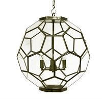 Van Roon Living Webstore - Lighting > Lighting > Hanging lamps > - > hanging lamp the chatwall 55x55x62 cm brass/clear medium