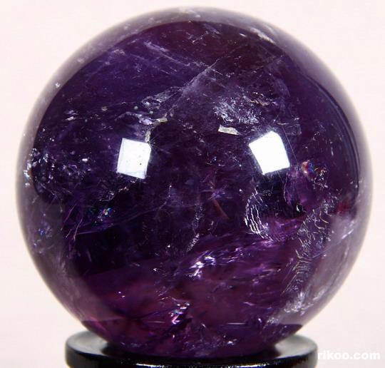 "amethyst crystal ball   Huge 3.4"" Amethyst Sphere, Quartz Crystal Ball, Dark Purple"
